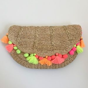 LILLY PULITZER | Straw Clam Shell Clutch